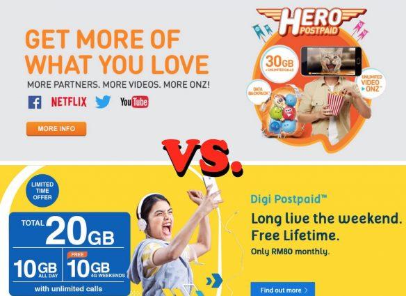 U Mobile Postpaid vs Digi Postpaid