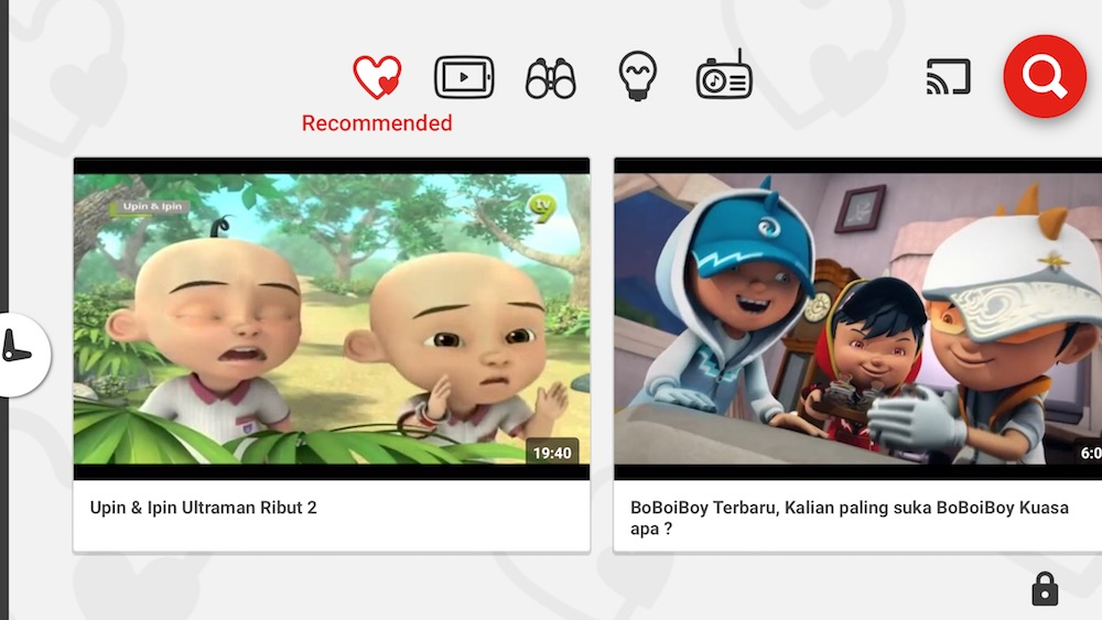 YouTube Kids Recommended Videos