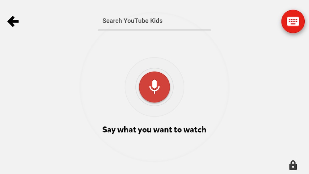 YouTube Kids Voice Search