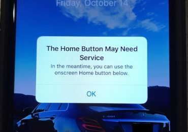 iPhone 7 Home Button Error Message
