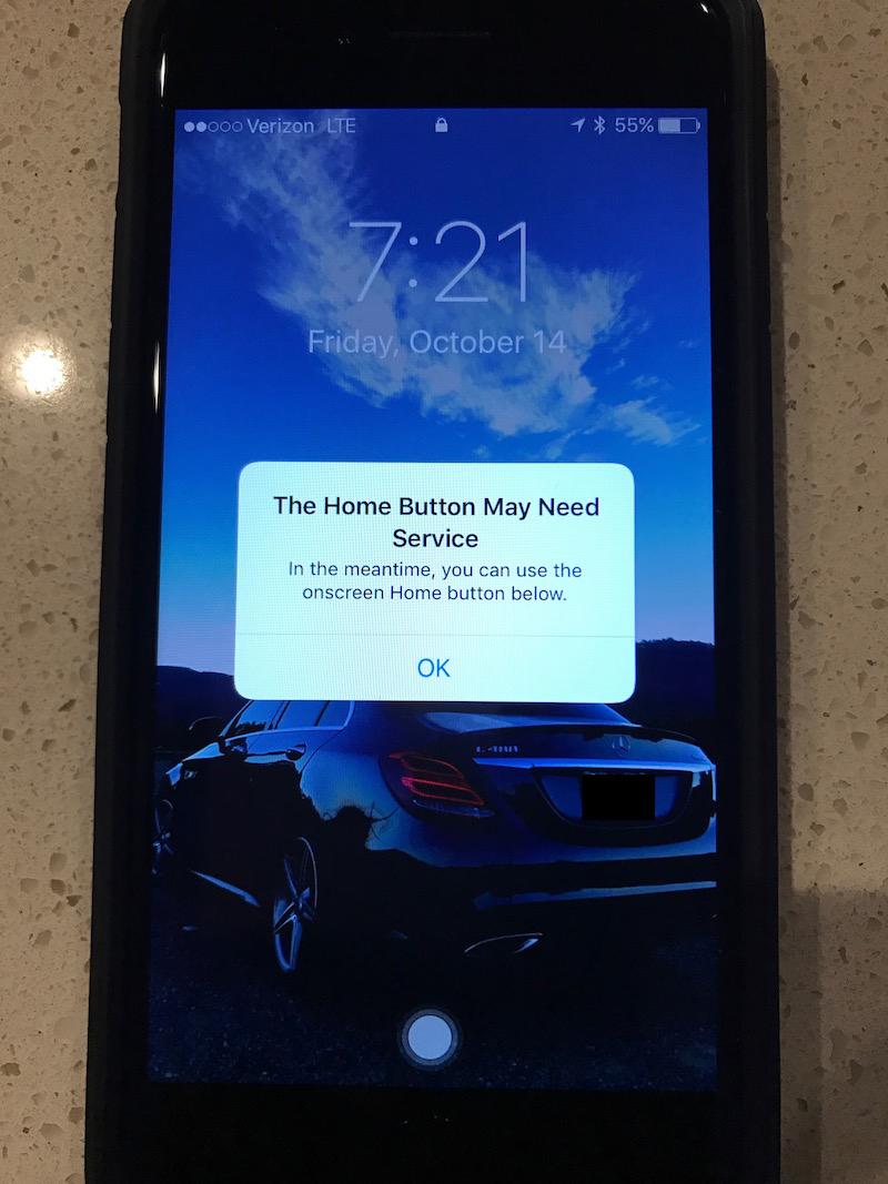 iPhone 7 Home Button Workaround