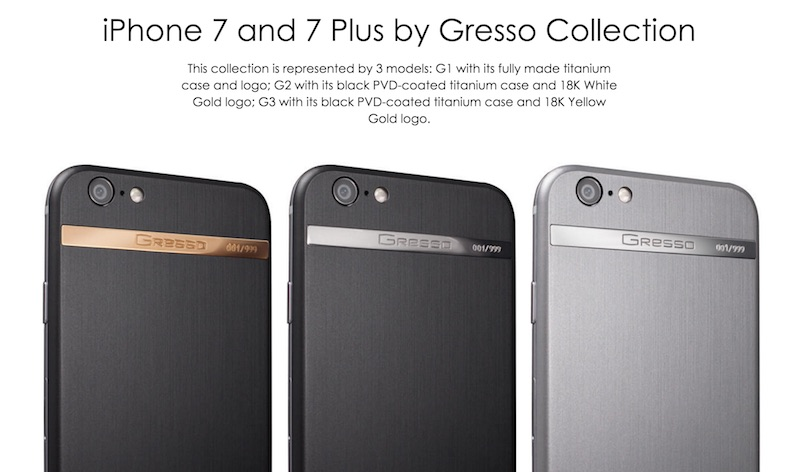 iPhone 7 and 7 Plus by Gresso