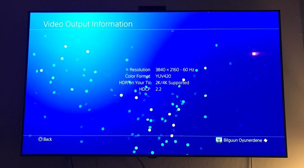 PS Pro 4 HDR 4K Settings.
