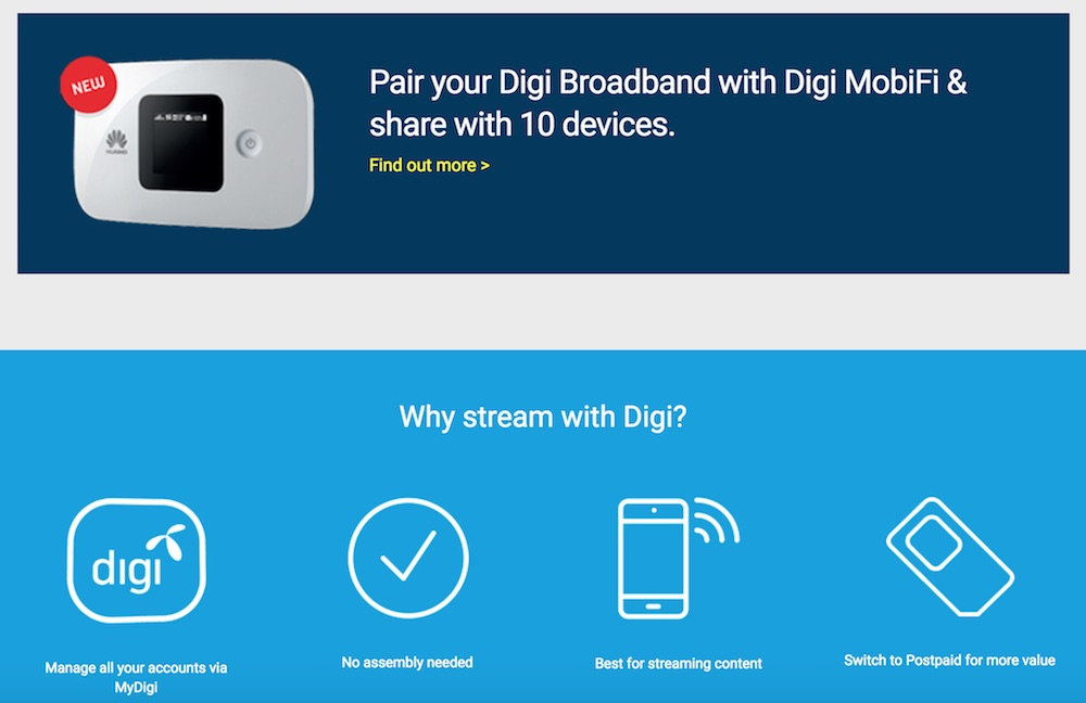 Digi Home Broadband Mobifi and Why Stream with Digi