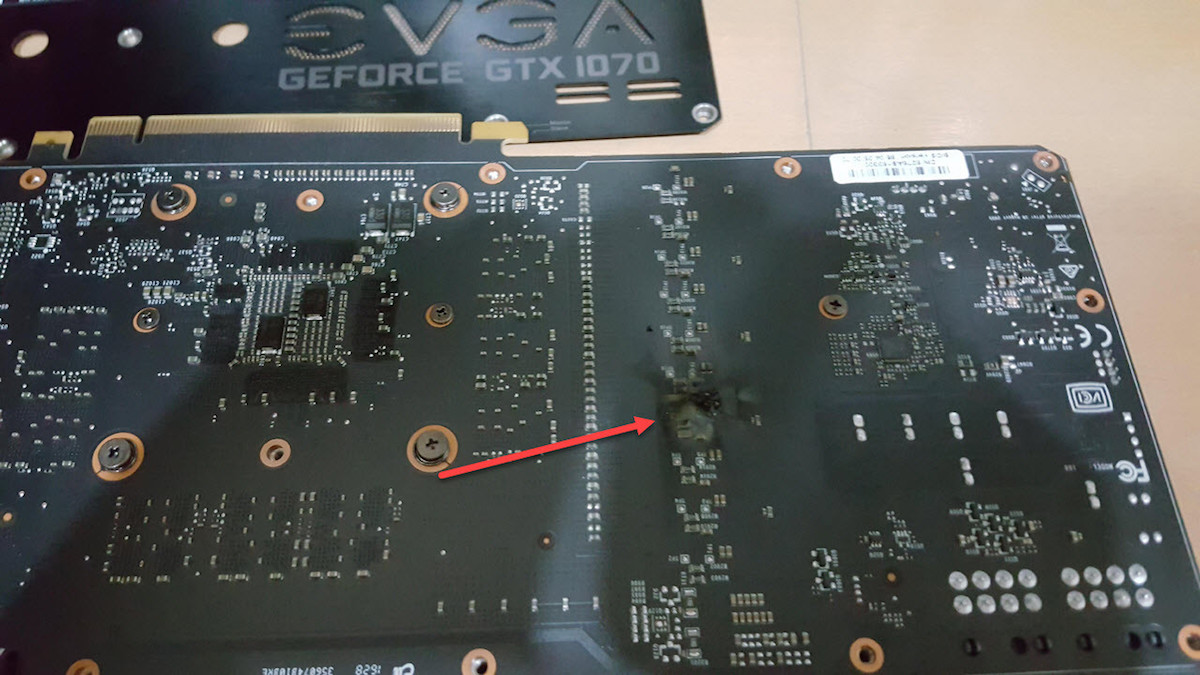 EVGA GTX 1070 VRM damage