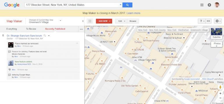 Google Retires Map Maker, Will be Integrated into Google