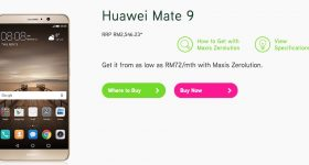 Huawei Mate 9 Now available on Maxis from RM72 a Month