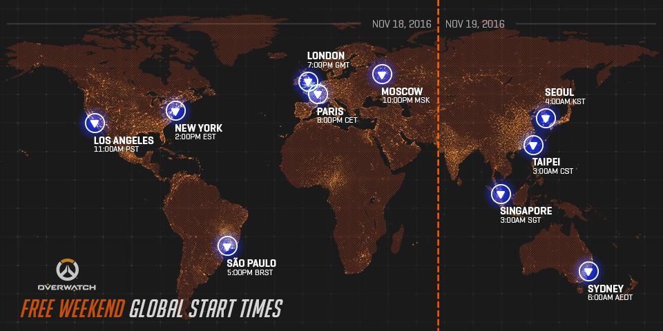 Overwatch 18-21 Nov Free Weekend
