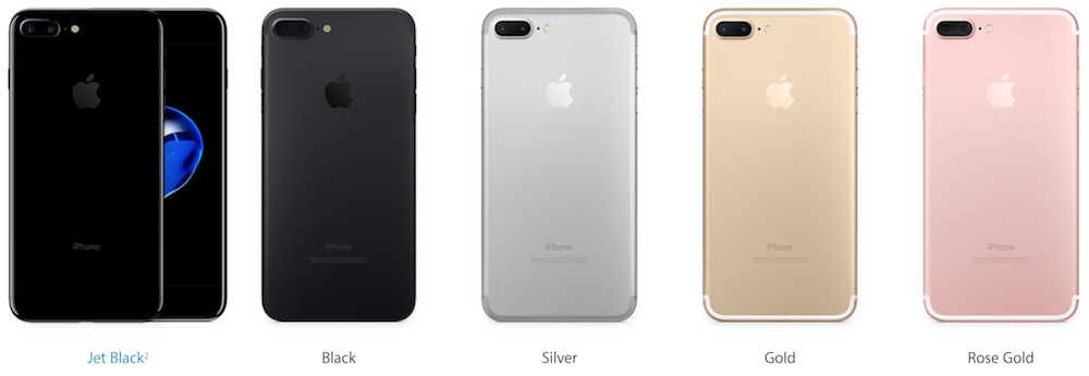 iPhone 7 Colour Options v2