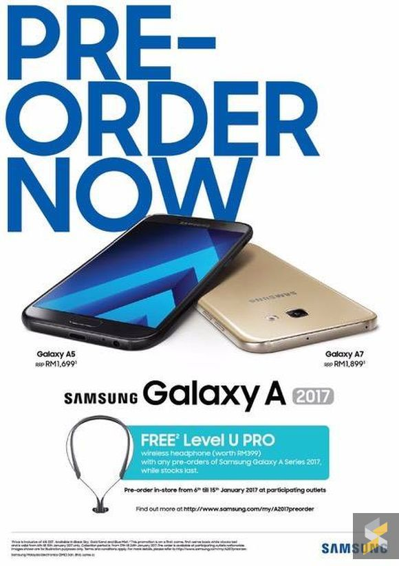 Samsung Galaxy A Series 2017 Pre-Order Price in Malaysia