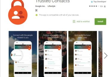 Google Trusted Contacts Store Page