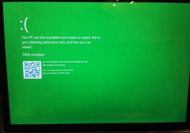 Windows 10 Green Screen of Death