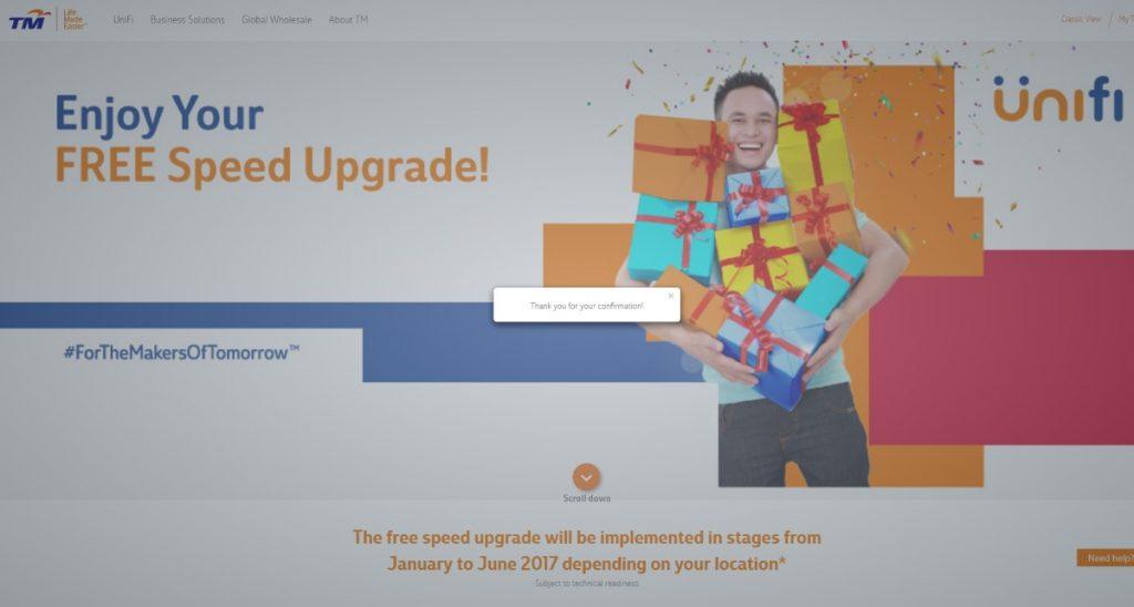UniFi Speed Upgrade - TM Thank You Surprise