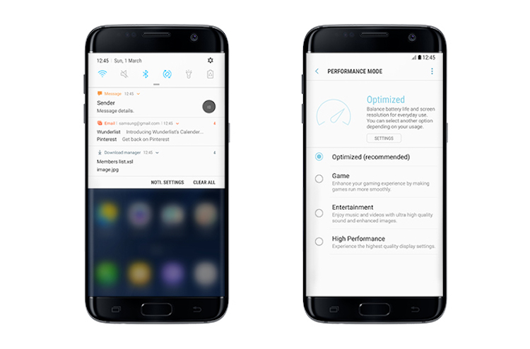 Android-7.0-Nougat on Galaxy S7 and S7 edge with new Notifications and Performance Mode