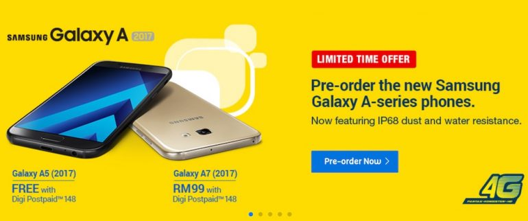 Digi Opens Preorder For Samsung Galaxy A Series 2017 Delivers From 25 January Onwards