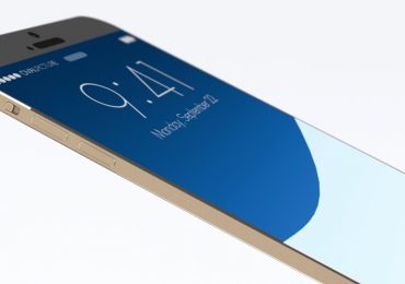 iPhone 8 Concept glass with stainless steel frame