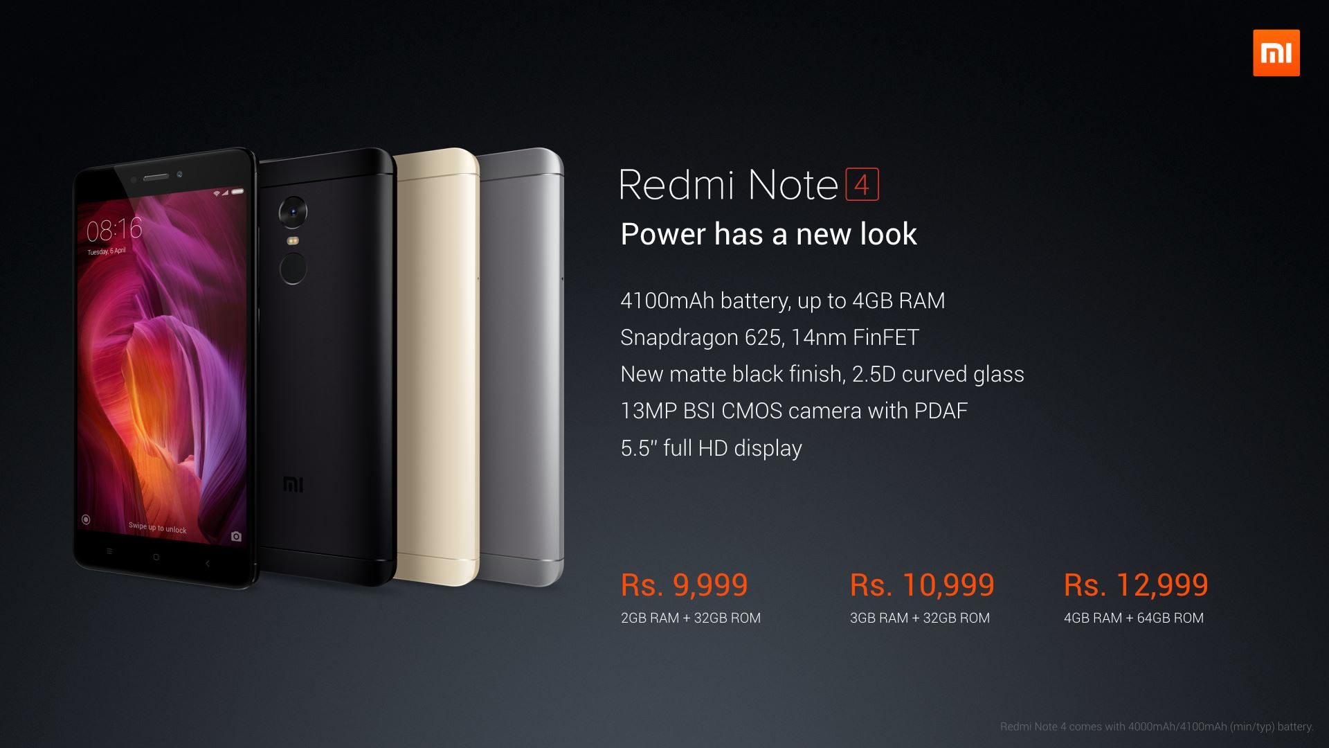 Xiaomi Introduces New Variant Of Redmi Note 4 In India