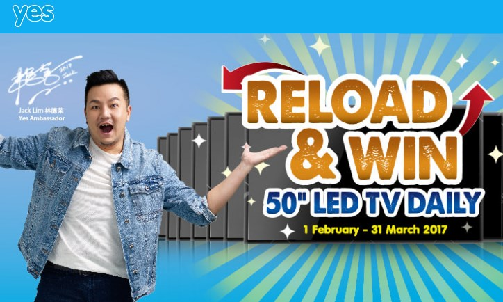 Yes 4G Reload & Win
