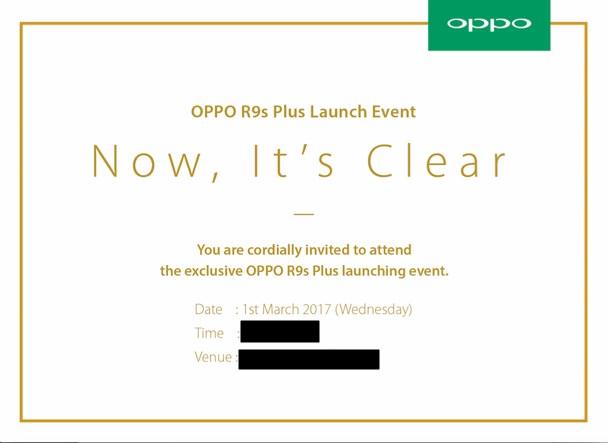 Media Invite for OPPO R9s Plus Launch Event Malaysia