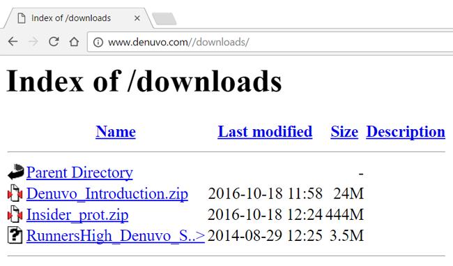Denuvo Directory Leak