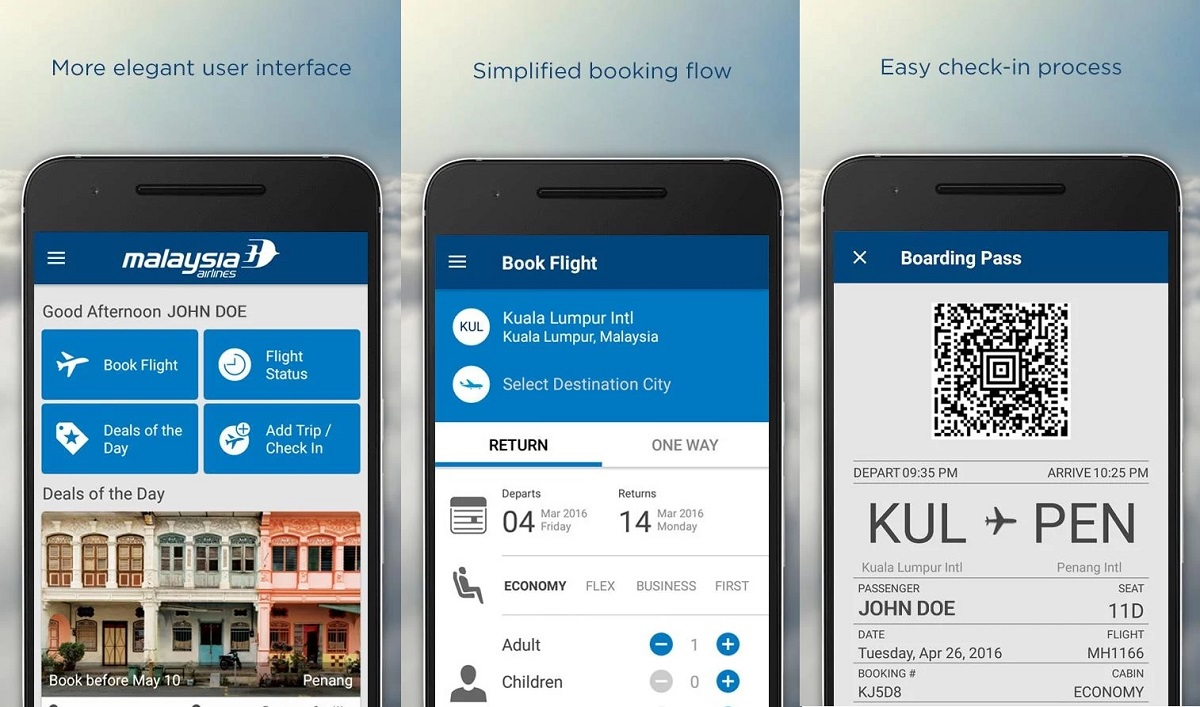 Malaysian Airliens app