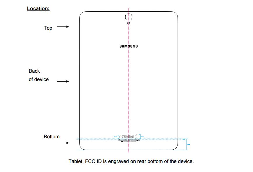 Samsung Galaxy Tab S3 FCC