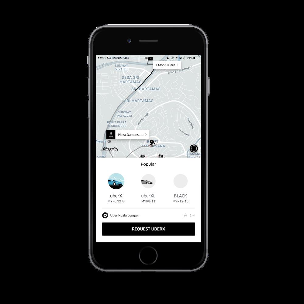 Uber 99 sen Rides Feb 2017 App