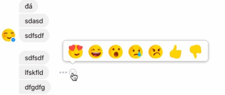Reactions on Facebook Messenger