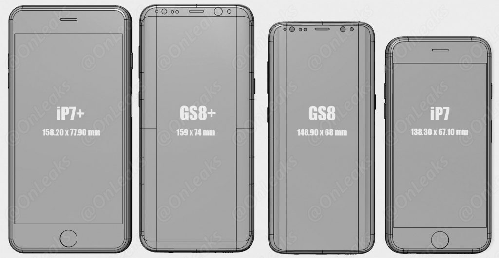 See How The Samsung Galaxy S8 Amp S8 Size Up To Other