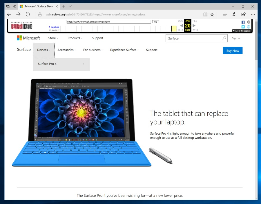 Official Website for Microsoft Surface Malaysia - January 2017