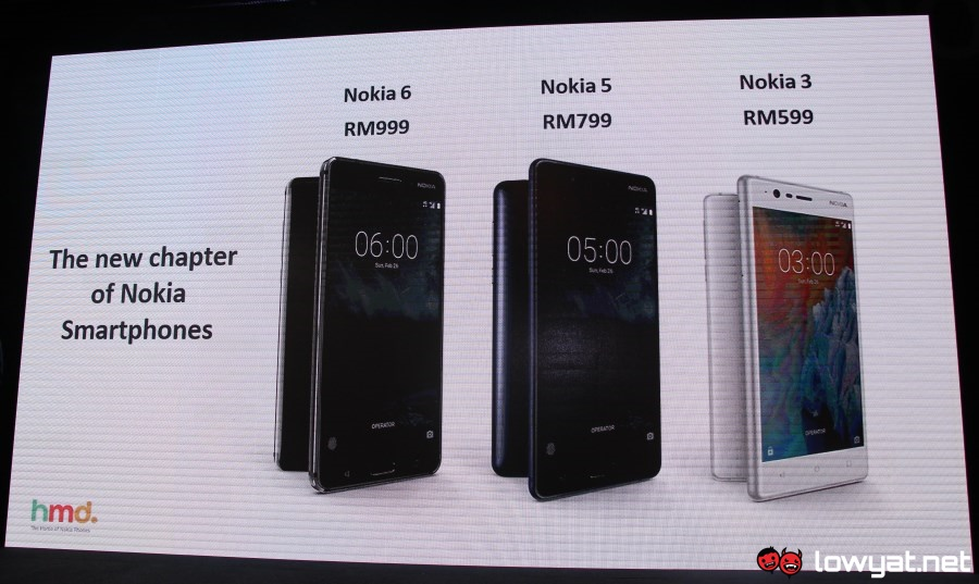 Hmd Global Launches Nokia 6 5 And 3 In Malaysia Priced From Rm