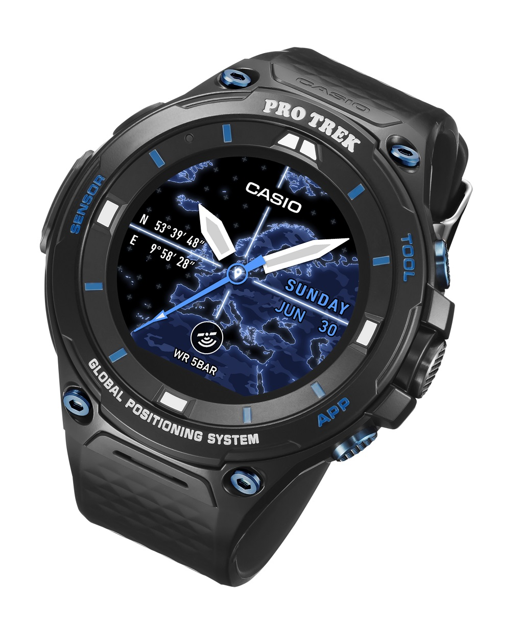 rugged on casio and watch slashgear wear smartwatch huge sg ces rug android hands