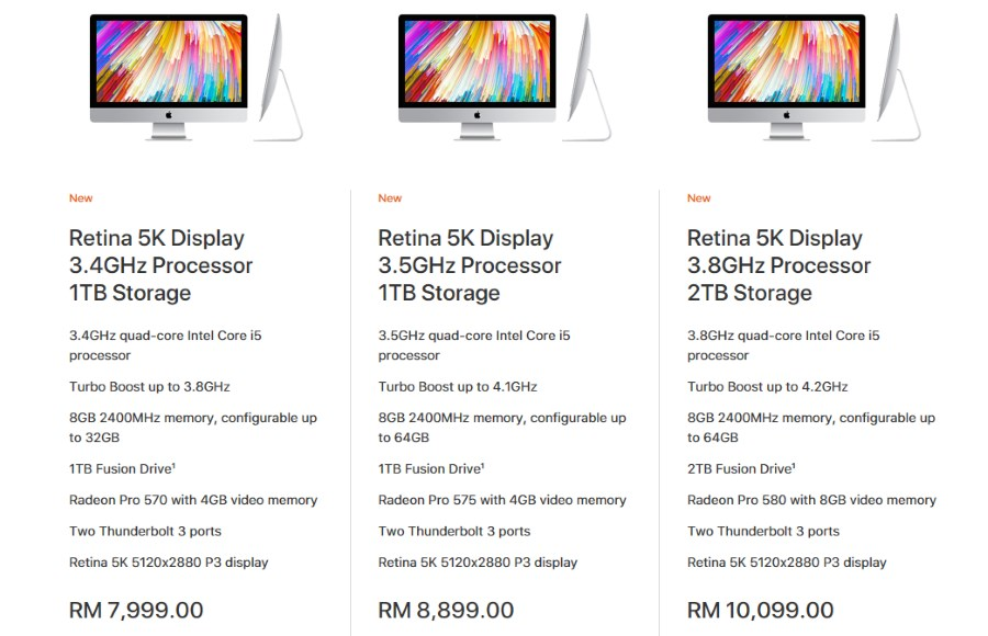 2017 Apple iMac Price Malaysia - June