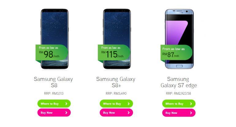 Maxis Zerolution Samsung Galaxy S8