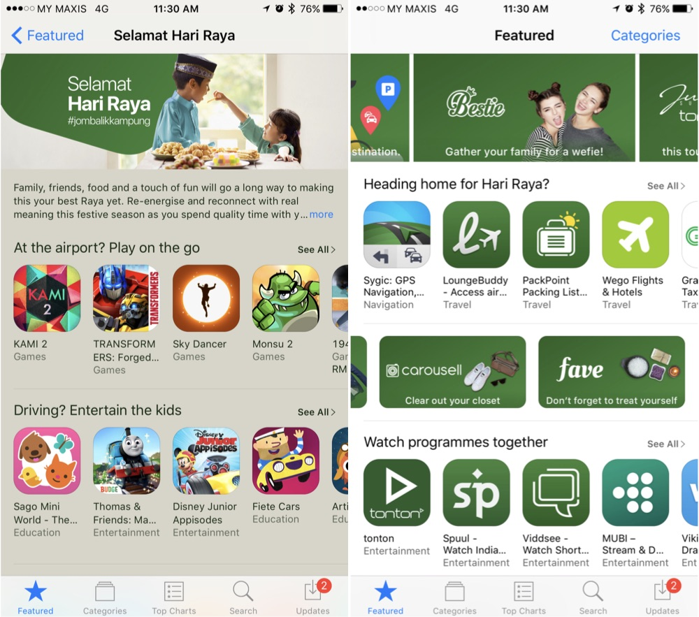 Apple Celebrates Hari Raya with Jom Balik Kampung Collection on App