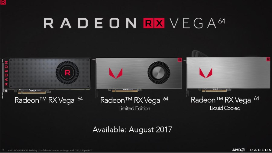 AMD Radeon RX Vega Line-Up