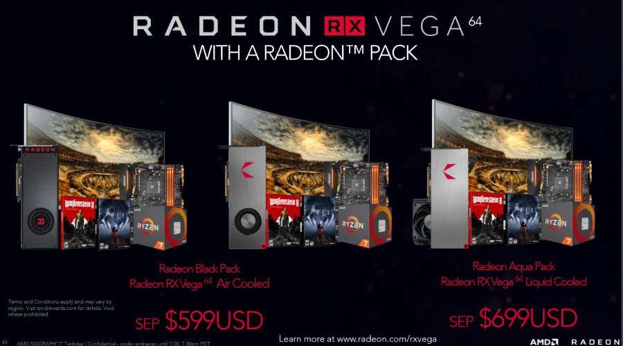 AMD Radeon Packs featuring Radeon RX Vega 64