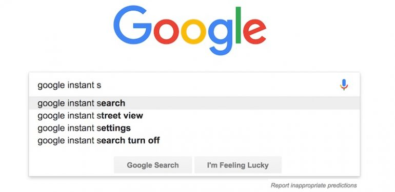 google instant search