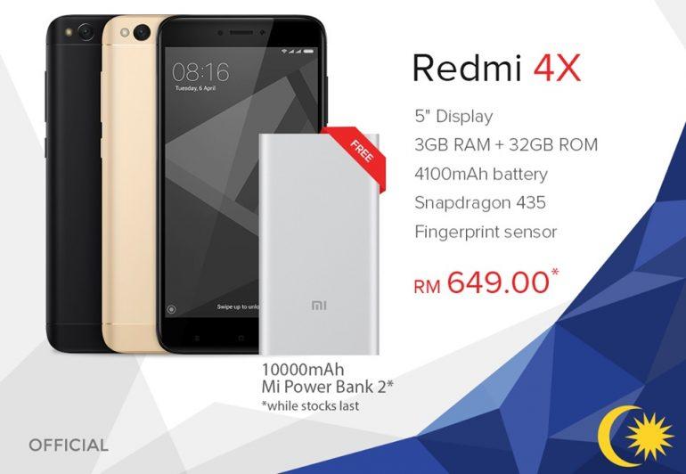 Xiaomi merdeka promo offers discount on redmi 4x free 10000mah mi xiaomi merdeka promo offers discount on redmi 4x free 10000mah mi power bank 2 stopboris Choice Image