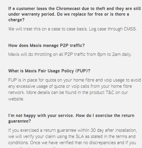 MaxisONE Home Broadband FAQ 2017