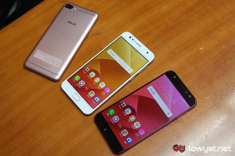 ASUS ZenFone 4 Max, Selfie, and Selfie Pro