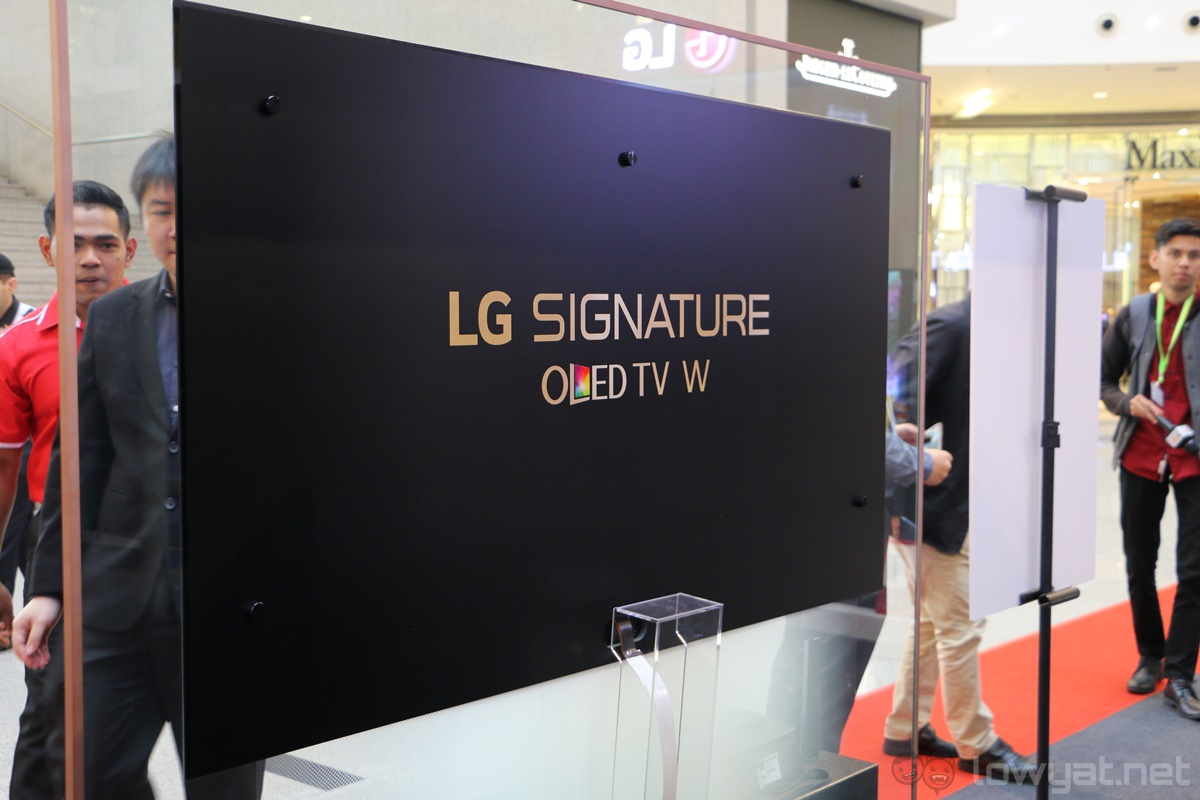 lg wallpaper tv. without a doubt the 65-inch lg signature 4k oled w7 tv is very impressive, and it has price tag to match: retails at whopping rm44,999. lg wallpaper tv