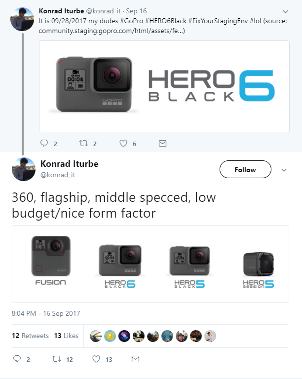 GoPro Hero 6 Black Launching Sept 28 Globally, Includes 240fps