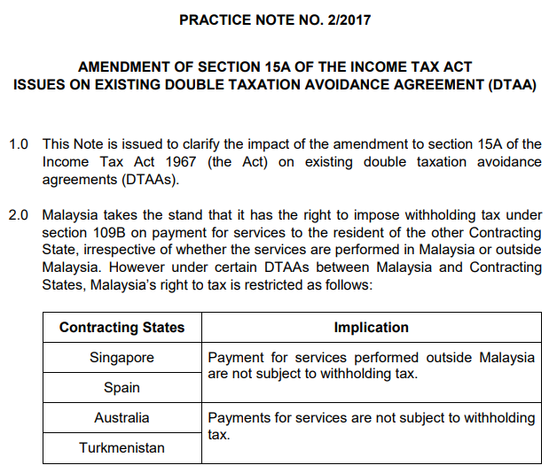 withholding tax malaysia singapore