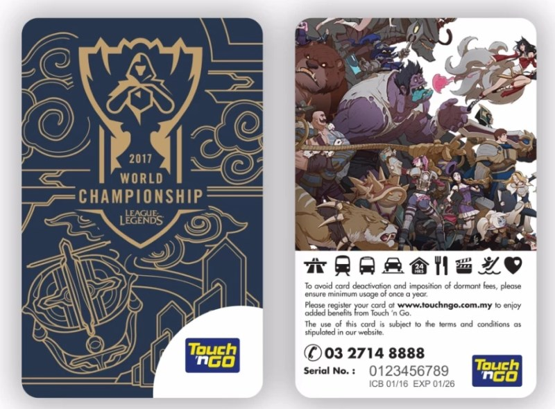 League of Legends World Championship 2017 Touch n Go Card