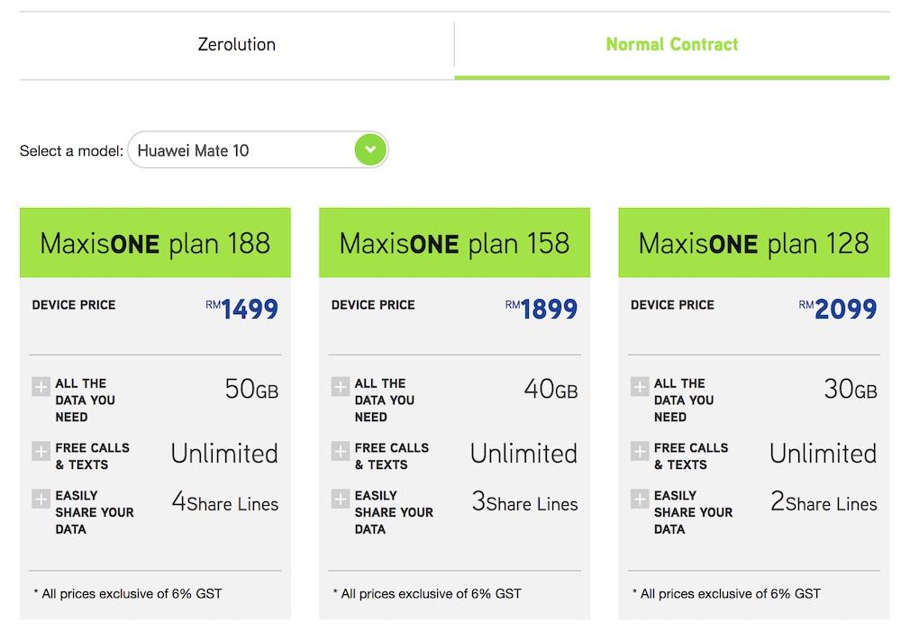Maxis Huawei Mate 10