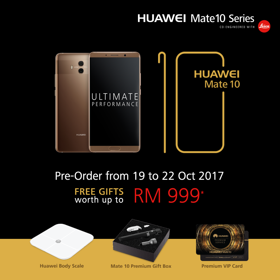 Huawei Mate 10 Pre-order in Malaysia Opens On 19 October ...