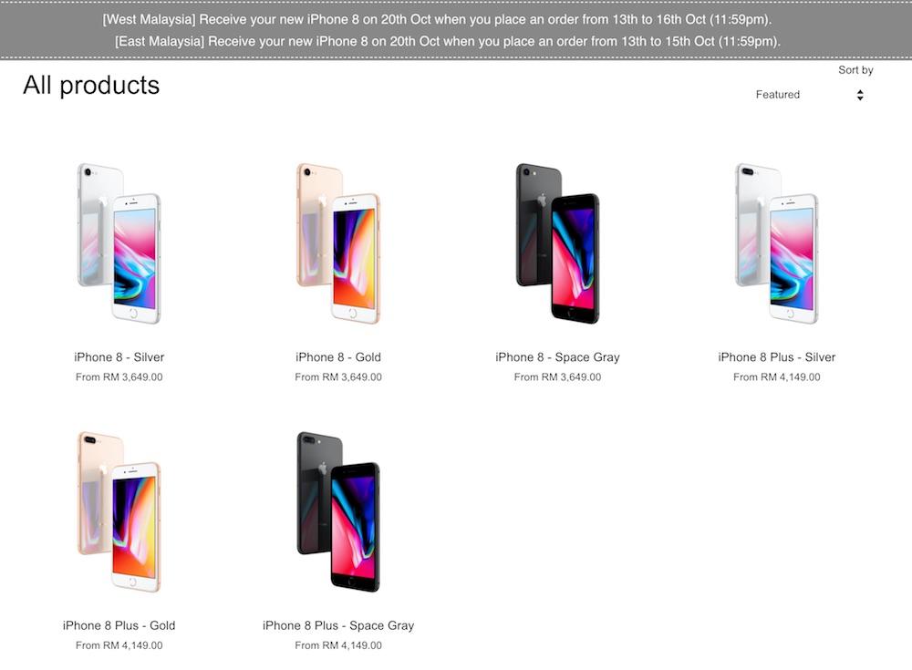 iPhone 8 Malaysia Preorder
