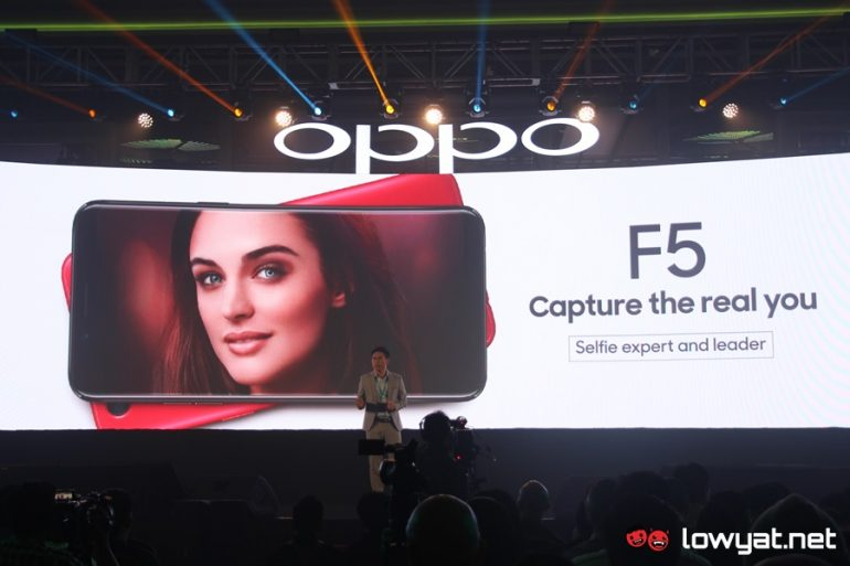 OPPO F5 Goes Official In Malaysia: Features 18:9 Display and 20MP