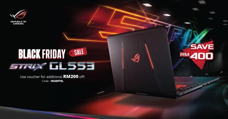 ASUS ROG Strix GL533 Black Friday Malaysia